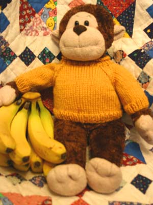 Jumper Knitting Pattern For A Teddy Bear : Monkster Gets Stranded   Free Knitting Pattern for a Fair Isle style teddy be...