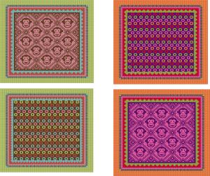 Two of many alternate colorways for the Sleepy Monkey Blanket