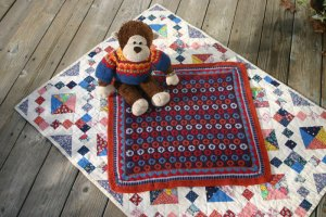 Sleepy Monkey Blanket - yep, it's reversible!