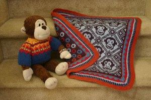 Sleepy Monkey Blanket