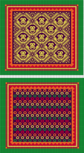 Aubergine, Shamrock, Yellow, Red and Orange