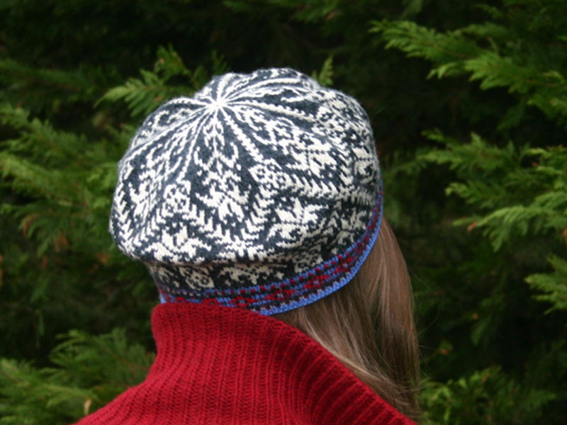 Free Fair Isle Knitting Patterns Hats : Amaryllis Hat knitting pattern PDF added to Ravelry Two Strands