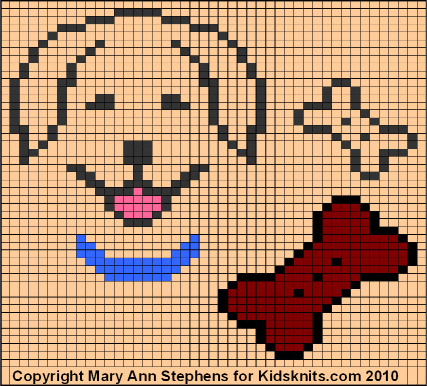 Dog For Knitting Charts Patterns Patterns Kid