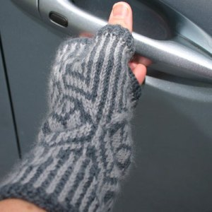 hedgerow fingerless mittens