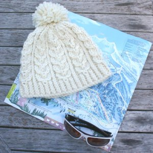 Snowbird Hat by Mary Ann Stephens, knit in Dale of Norway Hubro yarn