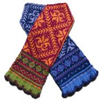 Amaryllis Mittens with norwegian, latvian and fair isle influences