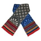 Camellia Mittens with latvian, norwegian, fair isle and asian influences