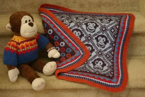 Sleepy Monkey Blanket copyright Mary Ann Stephens