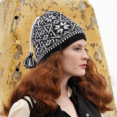 nordic motifs in the fair isle hat from vogue knitting fall 2011