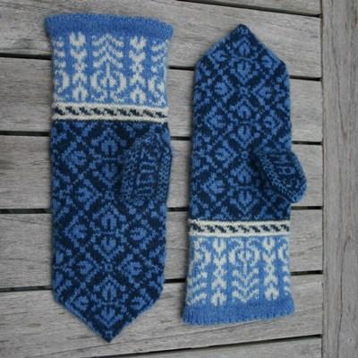 fair isle style tulip mittens