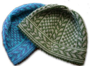 Wintergarden Hat, a stranded Norwegian knitting design in PDF or kit