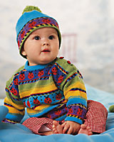knitting pattern for ladybug marihone baby sweater from dale of norway at kidsknits.com