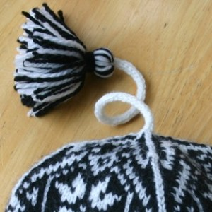 Tassel from Fair Isle Hat