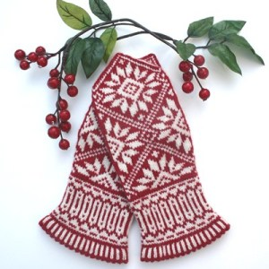 Zinnia mittens by Mary Ann Stephens, Twist Collective Winter 2011