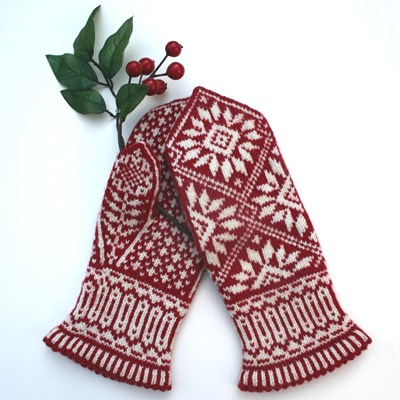 fair isle Zinnia mittens from Twist Collective Winter 2011