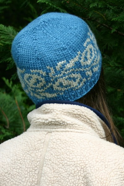 Macadamia Hats knit in Hegre. Cerulean + Light Sheep Heather on left  Deep  Olive + Light Sheep Heather on right. You just need 1 ball of each of the 2  ... 4344a81cbb37