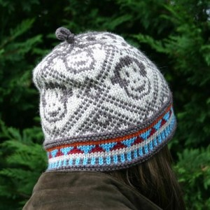 Monkey Hat knit in Dale of Norway Falk yarn for youth and teen / adult sizes
