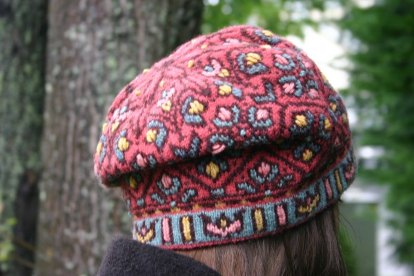 Allamanda fair isle slouched tam with embroidery