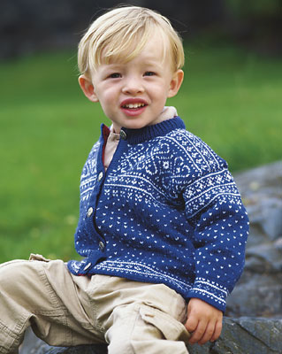 Dale of Norway Sirdal for babies and toddlers, available through Kidsknits.com