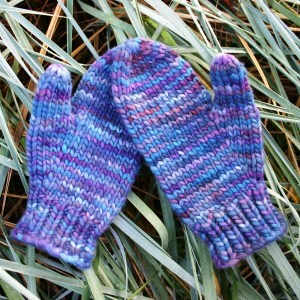 mittens in a blink, a free knitting pattern with malabrigo yarn purchase