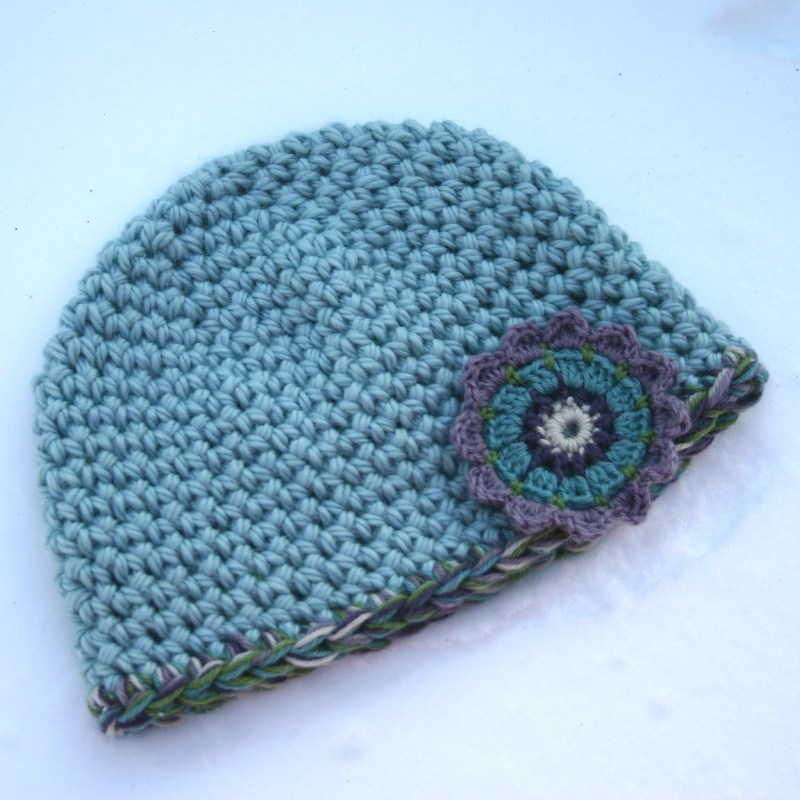 Free Crochet Pattern The Quickest Easiest Hat Two Strands