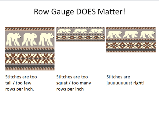 Row gauge can be crucial in stranded knitting