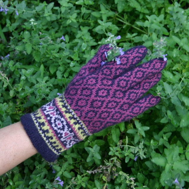 Knitting Pattern for Ladies' Fair Isle Gloves