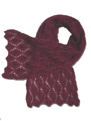 free pattern for lace scarf