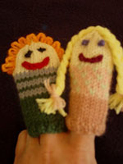 Knitting Patterns For Finger Puppets Free : Free Knitting Patterns Two Strands