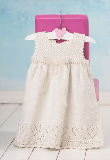 baby's lace knit dress