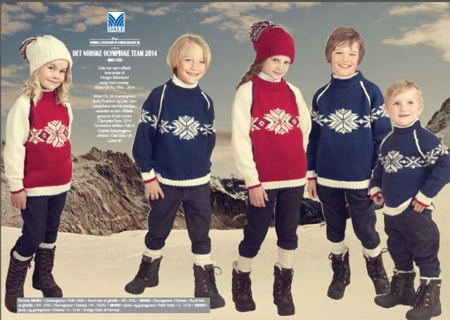 Dale Sochi Book 284 includes instructions for kids' Sochi Olympics 2014 sweaters, too!