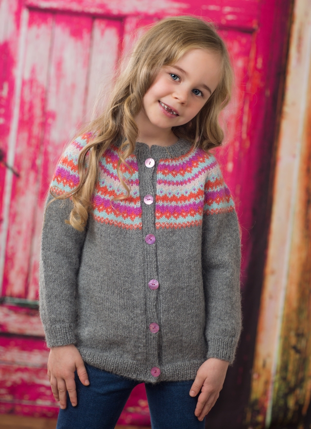 Dale Book 294 Norwegian / Fair Isle cardigan knitting pattern for kids 2 to 12
