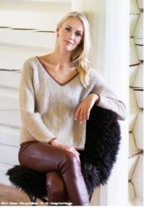 ladies' vneck sweater knitting pattern