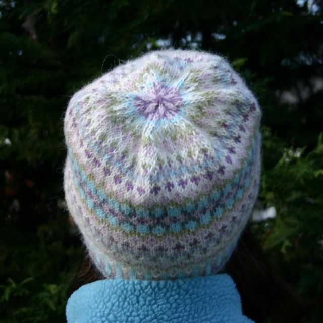fair isle hat knitting kit with alpaca yarn