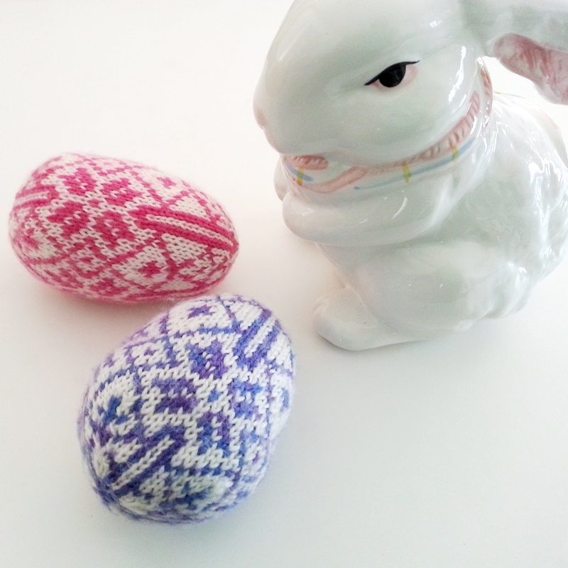 Nordic Easter Egg Knitting Pattern Two Strands