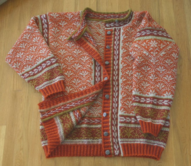Norwegian knit cardigan