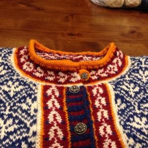 Val's Tiger Lily's neckline detail.
