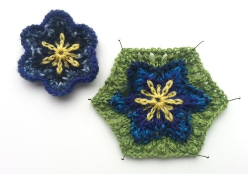 Asterisk Blossoms, a free knitting pattern from the Two Strands Blog.  Knit with Daletta and Hakkespett yarns, available through the designer at Kidsknits.com.