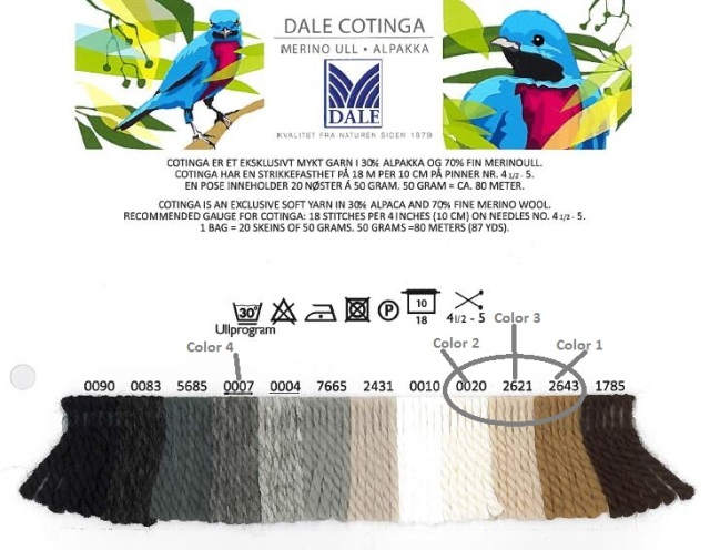 Cotinga yarn