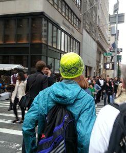 neon fair isle hat NY Nordic Hat