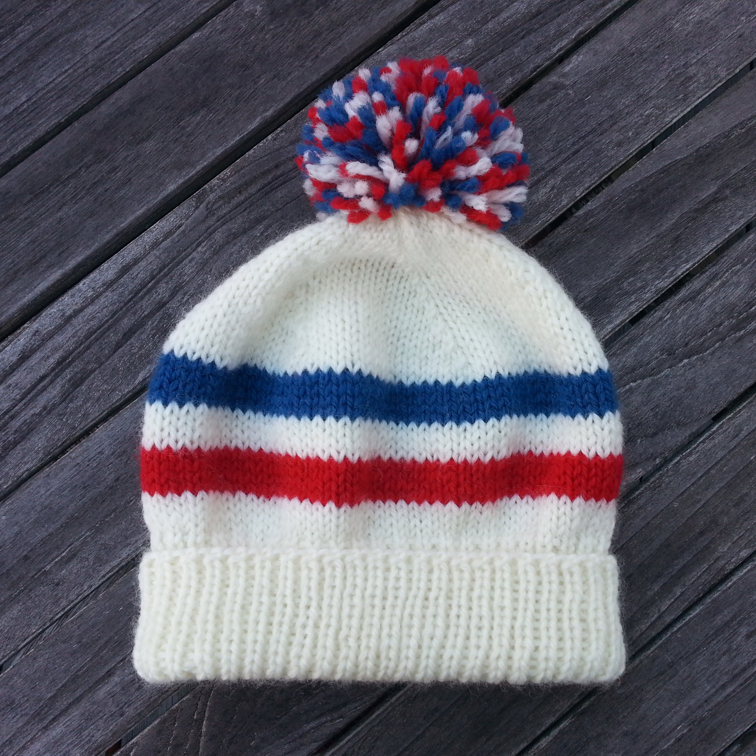 Free knitting pattern sports fan hat two strands bankloansurffo Choice Image