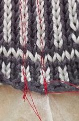 steek edges backstitched