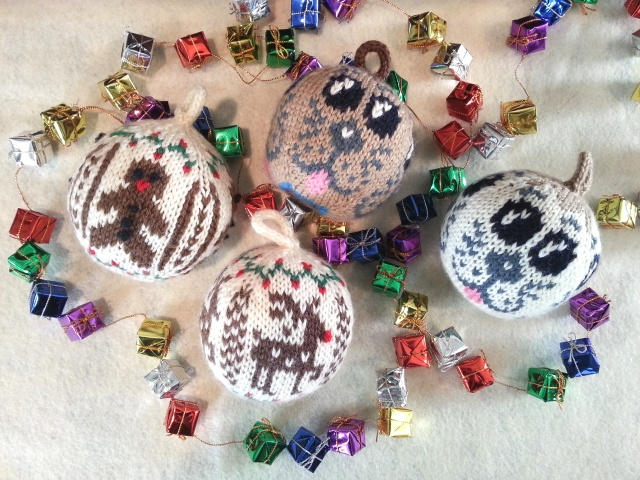 Christmas balls knitting patterns