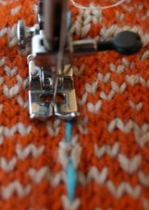 armhole steek on tiger lily