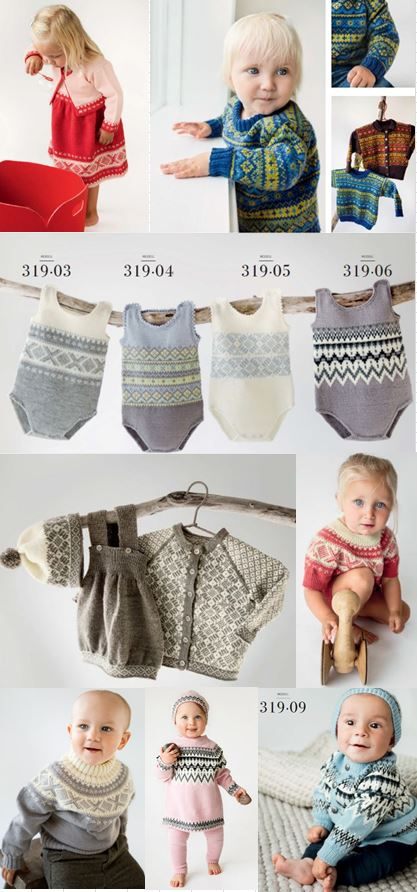 Norwegian knitting for baby - Dale Book 319 at Kidsknits.com