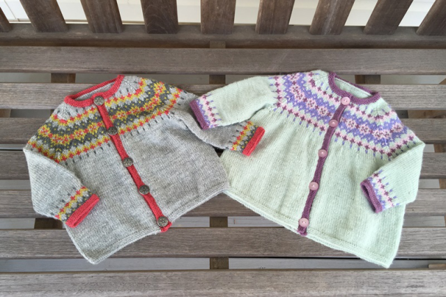 Baby s 1st Fair Isle Cardi Two Strands