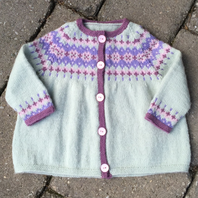 baby girl's fair isle sweater