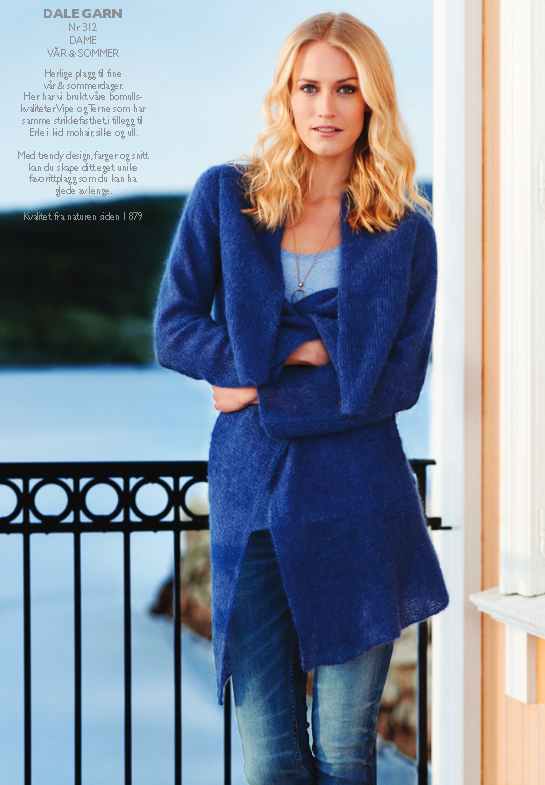 Dale Erle waterfall cardigan knitting pattern