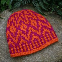 Supernova, a Fair Isle super bulky wool hat