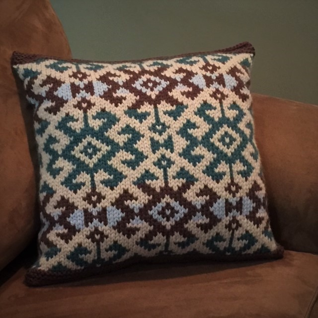 Kilim Pillow knitting pattern